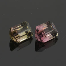 2 Watermelon Tourmaline - 1.85 ct.