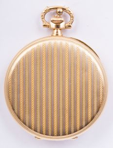 Rare Zenith -pocket watch  - 18 kt Perfect condition - Man - 2 gold Rare carving