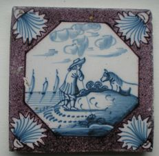 Antique tile with special depiction (rare)