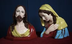 Solid statues of Jesus and Mary