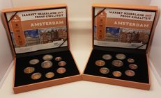The Netherlands - year packs/year collections of Euro coins 2017 (2 pieces)