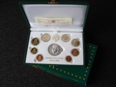 Vatican – year pack/ year collection (Proof) 2010 Benedict XVI, including a silver medal in case
