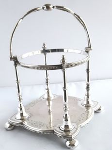 Silver plated Cooper Brothers & Sons Ltd. Stand/ (pot) holder. No. 1350 waranted hardsoldered no. 12