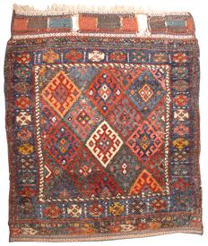 Tribal Jaff Kurdish bag front, NW Persia, 83 x 69 cm.