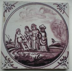 antique tile with Biblical scene (Special scene)