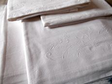 From grandma's trunk, cotton embroidered double sheet set