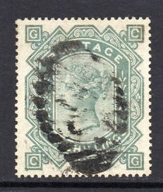 Great Britain 1882-83 Quenn Victoria - 10/- Greenish Grey Plate 1, Stanley Gibbons 135
