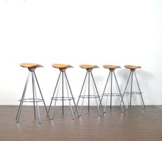Pepe Cortes by Amat for Knoll - set of 5 stools model 'Jamaica'