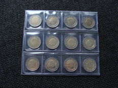 Belgium - 2 Euros 2000/2011 (12 different)