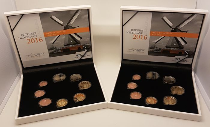The Netherlands - Year packs/ year collections of Euro coins 2016 (2 pieces)