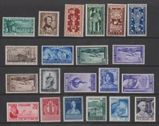 Republic of Italy, 1948-1949 - 15 complete series from the period