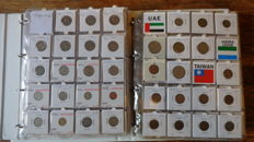 World - Batch of coins from different countries, S to Z, in two folders (581 pieces)