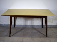 Unknown designer - Table in wood and Vetrolite