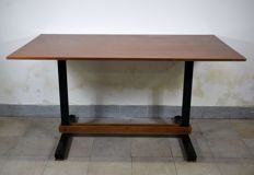 Table of iron and wood in the style of Ignazio Gardella