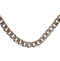 925/1000 - silver curb-link necklace - length: 51 cm