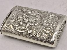 Early 19th century silver tinder box completely modified. Fa. Dahlia 1st half 19th century
