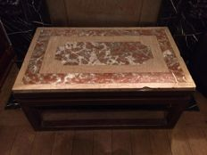 Old table in marble and metal - XX - Belgium