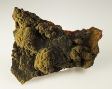 Extremly fine Mottramite velvet cluster 2011 find - the finest - with small Hemimorphite crystals - 8,7 x 7,1 x 2,1 cm - 88 g