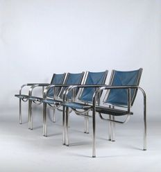 Hans Eichenberger for Strässle - set of 4 chairs from HE series