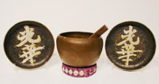 Lot with 3 singing bowls - Nepal and China - approx. 1900