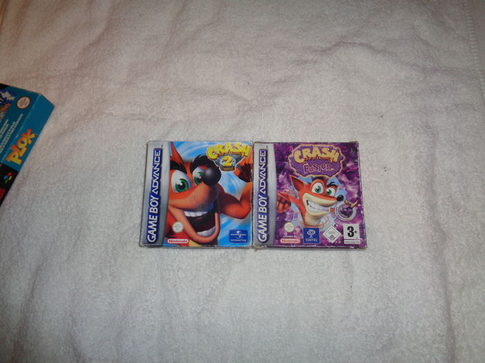 2x Gameboy Advanced Crash Bandicoot - boxed