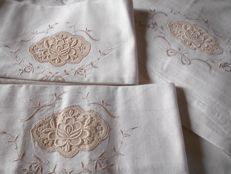 Old heavy cotton double sheet set