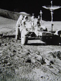 Apollo-15: car on the Moon
