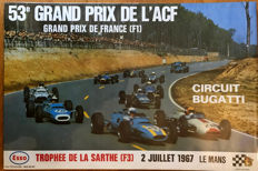 1967 French  Grand  Prix  le mans Circuit original poster
