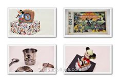 Mickey Mouse - Comic book + figure + silver plated cup and cutlery + Clock