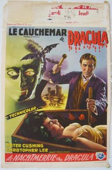 Horror of Dracula, Hammer, 1958  - Terence Fisher / Christopher Lee - Αφίσα