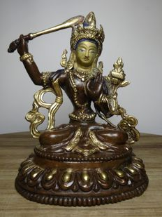 Bronze Manjushri - Nepal - second half of the 20th century