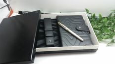 Montblanc Meisterstuck solitaire Fountain Pen M144 925 silver + agenda with pen gift