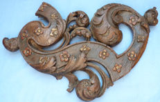 Decorative Wood Carving fragment, Europe, 18th Century