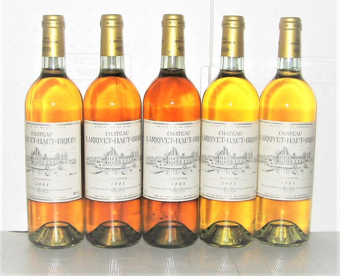Château Larrivet Haut-Brion 2001, Pessac-Léognan - Lot of 5 bottles