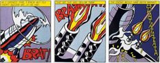 Roy Lichtenstein - 'As I Opened Fire' - Triptych - (Orig. published in 1967)