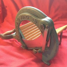 Danish Raadvad No. 294 - Metal Blue - Vintage Bread Slicer / Cutter Maschine - Midcentury ca 1940-60's