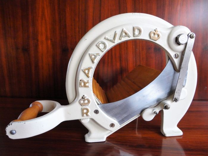 Raadvad - Bread Slicer / Cutter - Cream White 1950´s