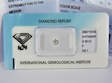 0.30 ct brilliant cut diamond F Vs1