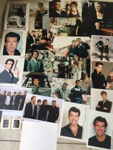 Pierce Brosnan as Bond - Selection of 25 photographs + 2 color slides.
