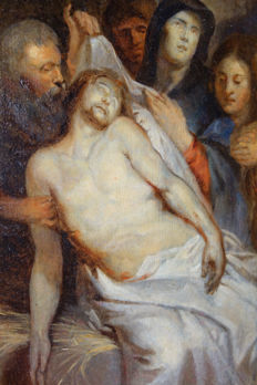 "After P. P. Rubens 1613/14 - copy around 1800 - "" Die Beweinung Christi"""