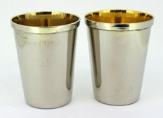 Vintage Silver Plate Travelling Cups, Circa.1970's