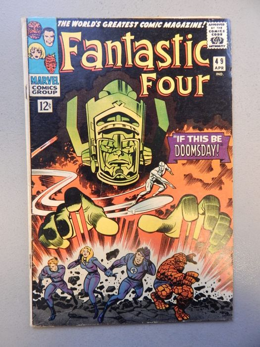 Marvel Comics Fantastic Four 49 With 2nd Appearances Of