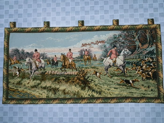 Vintage pictorial tapestry , second half of the 20th century, France 80 cm x 164 cm