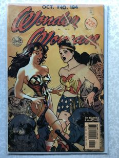 "Wonder Woman Vol 2 #184 - ""U-Boats & Dinosaurs""- Adam Hughes - (2002)"