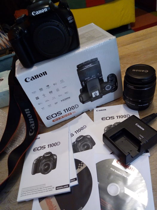 CANON EOS 1100D as new in box with 18-55 IS II complete