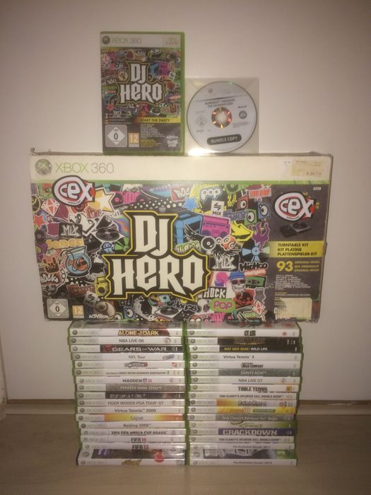 Lot of 36 Xbox 360 games like Alone in the Dark, Gears of War, Splinter Cell, Ghost Recon 2, DJ Hero and more.