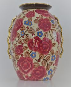 Raymond Chevalier for Boch La Louviere - Art Deco Vase with floral design