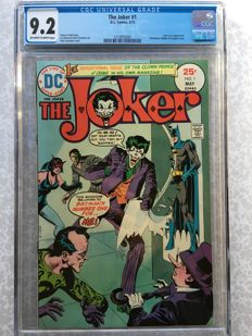 The Joker #1 - 1st Solo Comic For This Classic Comic Villain - CGC 9.2 - (1975)