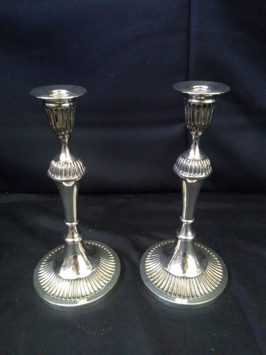 2 - Vintage Silver Plated Candle Holders
