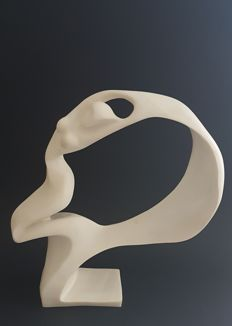Abstract design sculpture of a woman, 1980s